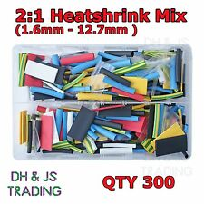 Assorted Box Heatshrink 2:1 Colours Heat shrink Tube Wrap Wire Insulation Sleeve