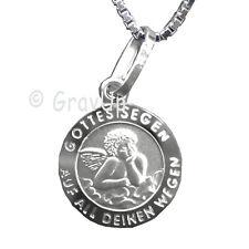 Anhänger Schutzengel / Gottes Segen und Kette mit Gravur Silber 925