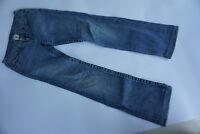 TRUE RELIGION Billy Damen stretch Jeans Hose 26/30 W26 L30 blau used Riss #13k