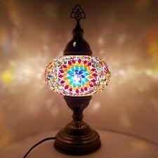 Turkish Table Lampe Marocain Coloré Verre Mosaïque Lampe Lumière Ce Testé En