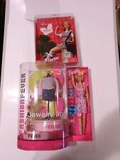 Barbie Shoes Galore & Xhilaration Dolls, Fashion Fever Jewelry Box NEW Lot of 3
