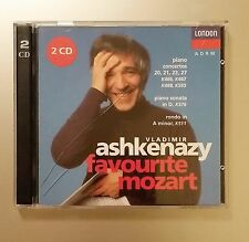 Favourite Mozart by Vladimir Ashkenazy (CD, Sep-1992, 2 Discs, London)