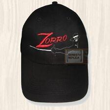 The Zorro Black Hat TV Series Guy Williams Diego de la Vega Mask Cap Embroidered