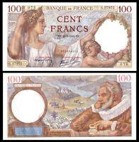 France 1942  * SULLY *  100 Francs P-94 Gem UNC