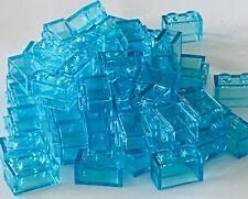 *NEW* LEGO Lot of 50 Pieces Lego BRICK 1x2 TRANS LIGHT BLUE 3004
