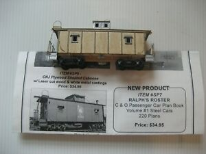 Vintage HO Bethlehem Car works Central New Jersey sheath caboose