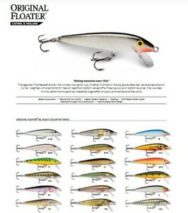 Rapala Original Floating // F07 // 7cm 4g Fishing Lures (Choice of Colors)