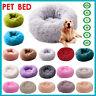 Pet Dog Cat Calming Bed Round Nest Warm Soft Plush Comfortable Deep Sleeping Mat