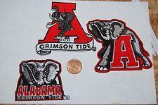 Alabama Crimson Tide  Logo Patches College 3 Patch Lot