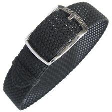 14mm EULIT Kristall Black Tropic Woven Nylon Perlon German Made Watch Band Strap