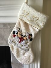 Vtg Rare Disney Parks Victorian Mickey & Minnie Mouse Christmas Stocking Wedding