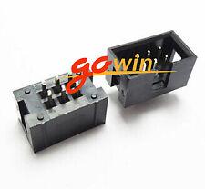 10Pcs 2.54mm 2x3 Pin 6Pin Straight Box Header Shrouded header Idc Male Socket
