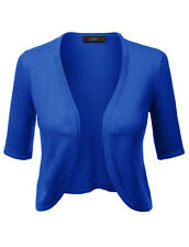 Women's Classic Bolero Cardigan available in Red, White or Blue Pinup Retro