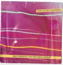 "DAVID BOWIE/PAT METHENY GROUP - This is Not America - 7"" Vinyl 1985 EA 190"