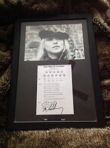 Debbie Harry signed picture with song lyrics complete with frame