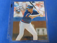 MARK GRACE SIGNED 8x10 PHOTO ~ CHICAGO CUBS ~ Insc. To Wesley ~