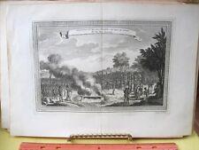 Vintage Print,PUNITION D'UNE DES FEMMES,18th Century,Views of Trade Ports,1748