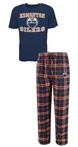 "Edmonton Oilers NHL ""Great Duo"" Men's T-shirt & Flannel Pajama Sleep Set"