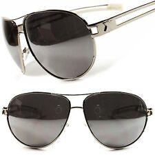 a0f2c71d00 Espejo De Lujo Diseñador Retro Para Hombre para Mujer Estilo Militar Gafas  de sol de gran tamaño
