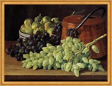 Still Life with Grapes, Figs, and a Copper Kettle Melendez Kupfertopf B A2 02841