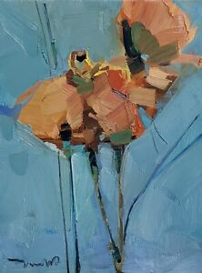 JOSE TRUJILLO Oil Painting IMPRESSIONISM FLOWERS FLORAL COLLECTIBLE 9X12 ARTIST