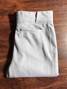 EASTON Women's Gray Baseball Pants Mint Condition! Size Medium Regular