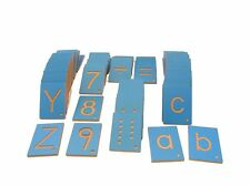 NEW Montessori Language Material - Number and Letter Tiles