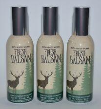 3 BATH & BODY WORKS FRESH BALSAM CONCENTRATED ROOM SPRAY PERFUME MIST DEER GREEN