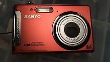 Sanyo VPC T850 8.0 MP Digital Camera -  Orange
