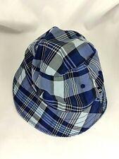 Nautica Bucket Hat S/M Navy White Plaid White Cotton Lining