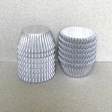 MINI Silver Cupcake Liners, Silver Mini Cupcake Wrappers, Mini Baking Cups