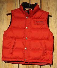 Tommy Hilfiger Youth Kids Puffy Red Vest Logo On Pocket  Size M 5 +