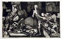 Untitled, 1966. Aquatinta von Heinrich SCHILINZKY (1923-2009 LAT/D) handsigniert