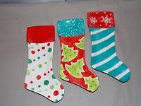 NEW CHRISTMAS POLKA DOT STOCKING SPOON REST HOLDER TIDBIT PLATE 3 STYLES