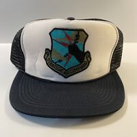 Vintage Strategic Air Command Trucker Hat Air Force Military Mesh Snapback Otto