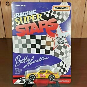 Vintage diecast 1992 Matchbox Mint unpunched Bobby Hamilton NASCAR Super Stars