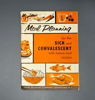 Meal Planning for Sick & Convalescent Menus Recipes Knox Gelatine Co. Booklet