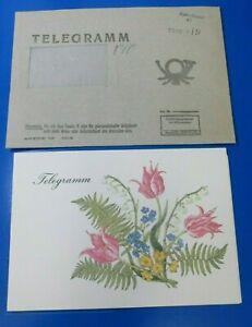 DDR  Schmuckblatttelegramm lx60 mit Telegramm Umschlag 1987
