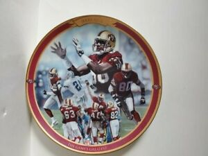 1997 JERRY RICE SAN FRANCISCO 49ers BRADFORD EXCHANGE PLATE The Game's Greatest