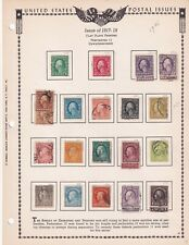 Four pages 1917 to 1932 stamps from an old US album