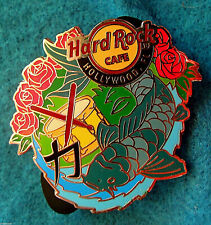 HOLLYWOOD FL KOI FISH STRENGTH DRUM DRUMSTICK ROSES SERIES Hard Rock Cafe PIN LE
