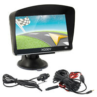 XGODY 560 5'' Vehicle GPS Navigation Touchscreen Backup Camera Lifetime Map