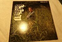 JERRY LEE LEWIS SOUL MY WAY VINYL LP ALBUM 1967 SMASH RECORDS JUST DROPPED IN