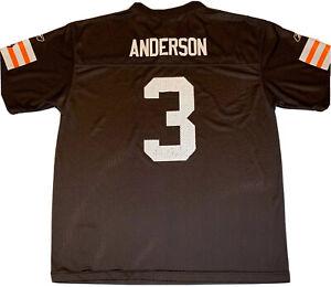 Cleveland Browns #3 Derek Anderson NFL Football Jersey Youth XL 18-20 Reebok