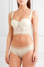 CALVIN KLEIN Black Label Endless Stretch Lace And Tulle Underwired Longline Bra
