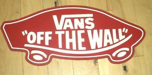 """VANS """"OFF THE WALL"""" RED PROMO RUBBER MAT 31""""X14"""" SKATEBOARD SHOES"""