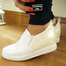Wedge Slip On Composition Leather Shoes for Women