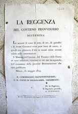 J511- REGGENZA-RESTAURAZIONE-MONETE FUORI CORSO 1814
