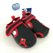 Bum Equipment Toddler Boys Sandals Closed Toe Fabric Black Red Size 5