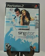 SingStar: Pop (Sony PlayStation 2, 2007) TESTED COMPLETE FAST-FREE SHIPPING